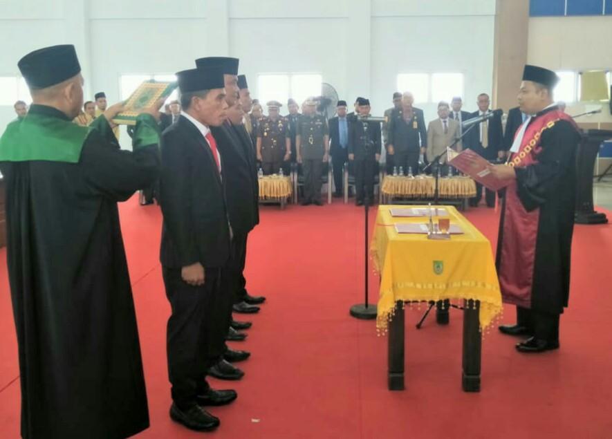 Ketua DPRD Rohil Resmi Dilantik Ketua Pengadilan Negeri Rohil