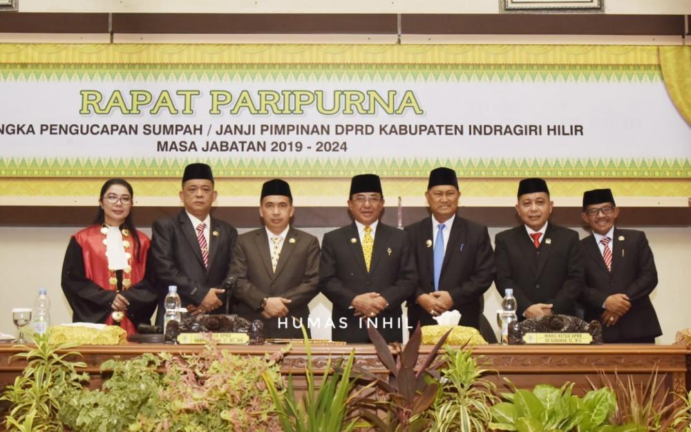 Hadiri Rapat Paripurna Sumpah Janji Ketua DPRD Inhil Periode 2019-2024, HM Wardan ;Semoga  Semakin Kukuh Dalam Mengemban Aspirasi Rakyat