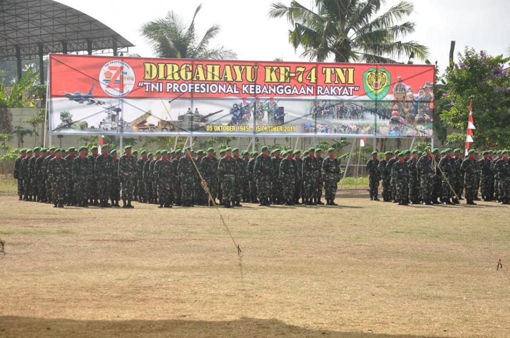 Bupati Ciamis Pimpin Upacara HUT TNI Ke 74 Di Langensari
