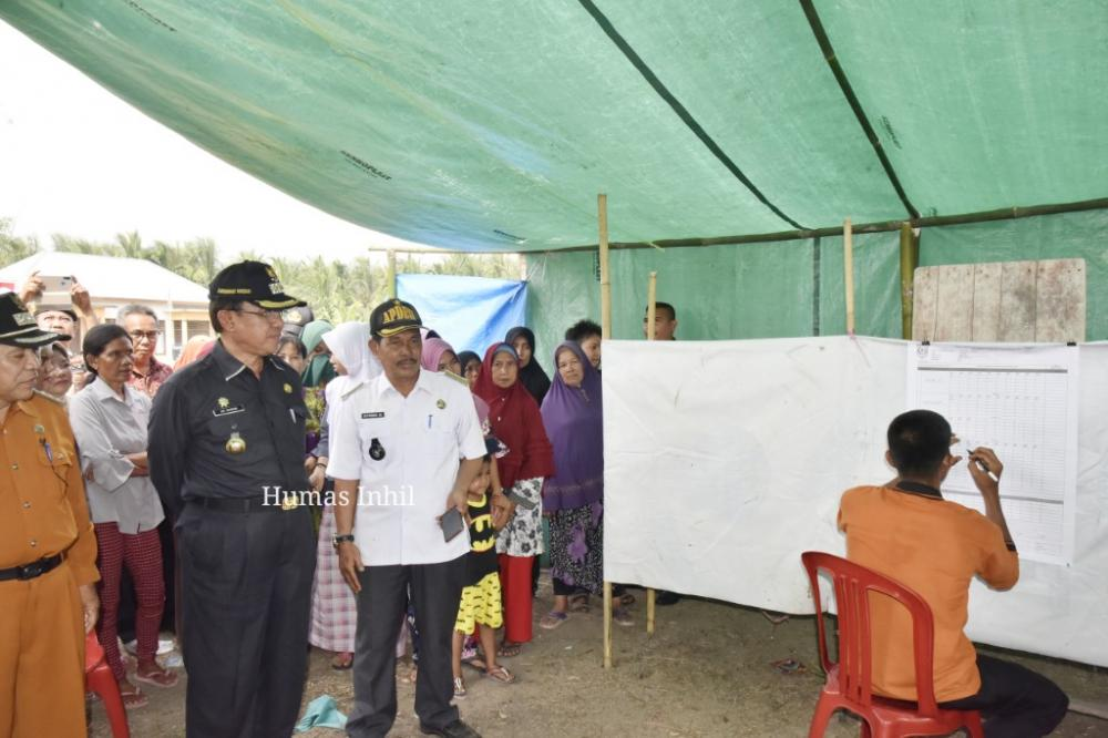 Bupati dan Wakil Bupati Pantau Pelaksanaan PILKADES Serentak TH 2019 Inhil