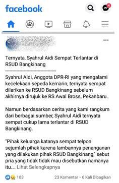 Ustadz Syahrul Aidi Klarifikasi Dirinya Terlantar di RSUD Bangkinang