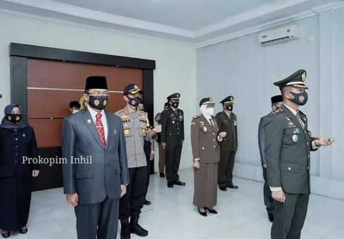 HM Wardan Ikuti HUT TNI Ke 75 Di Makodim 0314/Inhil