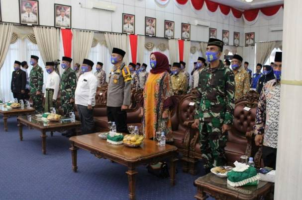 Danrem 031/WB dan Ketum DDII Riau, Hadiri Acara Pelantikan Pengurus DDII dan PDD Kampar