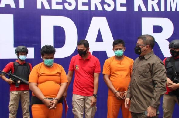 Polda Riau Ungkap Pelaku Pembakaran Kendaraan Roda Empat di Tambusia Utara Rokan Hulu
