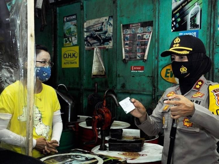 Kapolres Banjar Patroli Jalan Kaki Menyusuri Jalan Letjen Suwarto, Imbau Warga Patuhi  3M + 1T