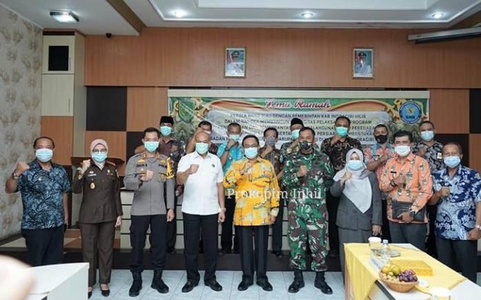Pertemuan BNNP Riau dan HM Wardan Bentuk Pemkab Inhil Berkomitmen Memberantas Penyalagunaan Narkoba