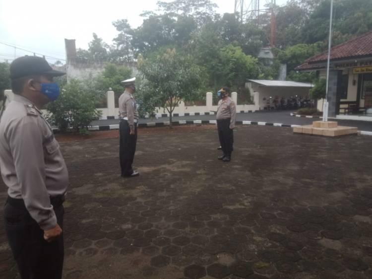 Kapolsek Pataruman Polda Jawa Barat AKP Cecep Edi Sulaeman, S.IP Pimpin Apel Pagi