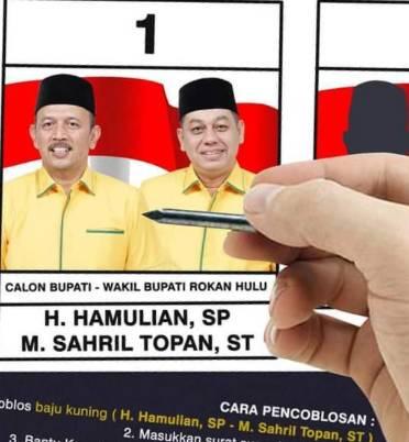 Ketua  DPC PPP Rokan Hulu Yakin Paslon Nomor 01 H. Hamulian-M Sahril Topan Kuasai Lebih dari 70 Persen Suara
