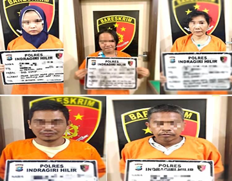 Tiga Wanita dan Dua Pria Diamankan Satreskrim Polres Inhil Terkait TP Pejudian Jenis Togel