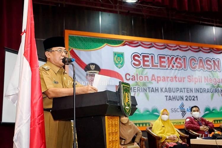 Bupati Inhil HM. Wardan Buka SKD CPNS Pemkab Inhil Bagi 3.731 Peserta dan Pastikan Tidak Ada KKN