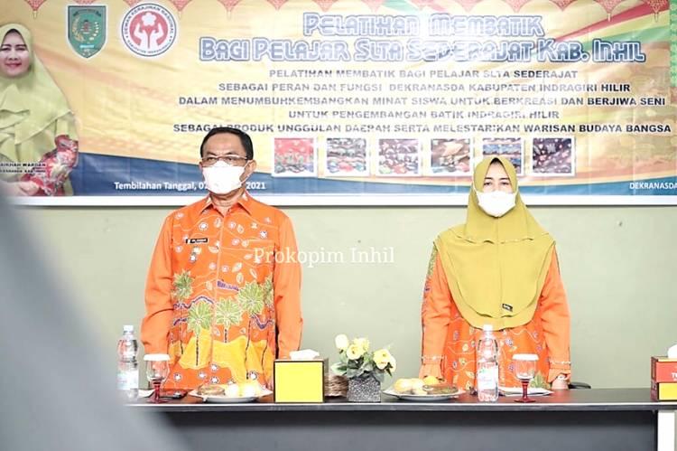 Ketua Dekranasda Inhil Hj. Zulaikah Wardan: Kembangkan Batik Khas Inhil agar Dikenal Secara Luas