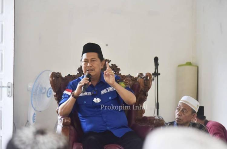 Wabup Inhil H. Syamsuddin Uti Hadiri Peringatan Maulid Nabi Muhammad SAW di Desa Suhada