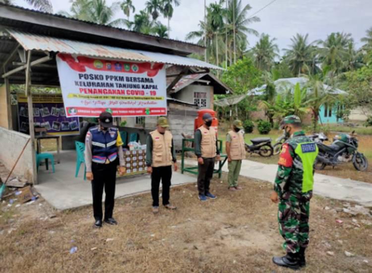 Babinsa Koramil 05/Rupat Kembali Gelar Operasi Yustisi di Pos PPKM