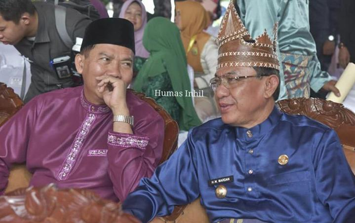Bupati HM Wardan Ikuti Pawai Tar'uf MTQ Ke 38 Tingkat Propinsi Riau Di Bangkinang