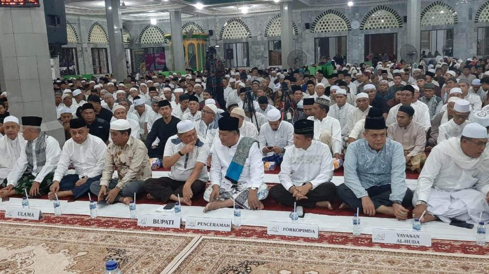 Dandim 0314/Inhil Letkol Inf Imir Faishal menghadiri Maulid Nabi besar Muhammad SAW