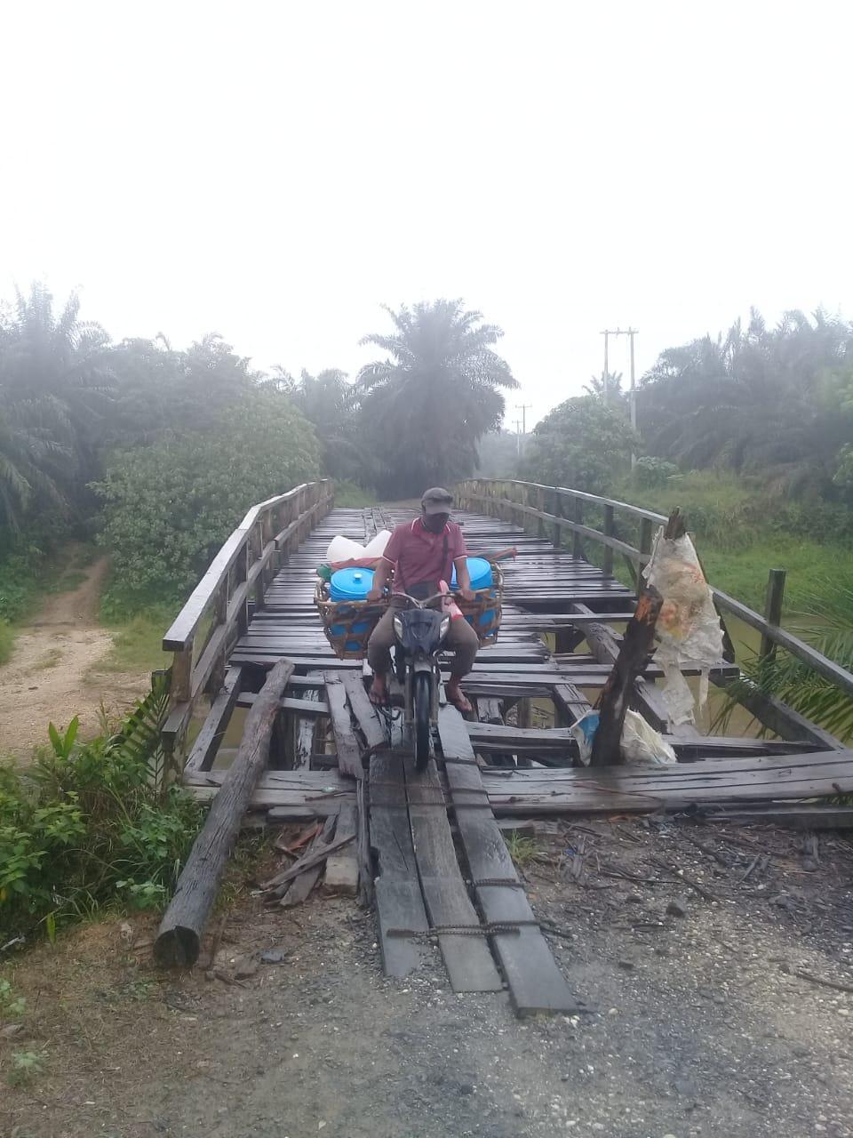 Jembatan 'Lintasan Jalai' Penghubung 4 Desa Butuh Perhatian Serius'Untuk Dibangun