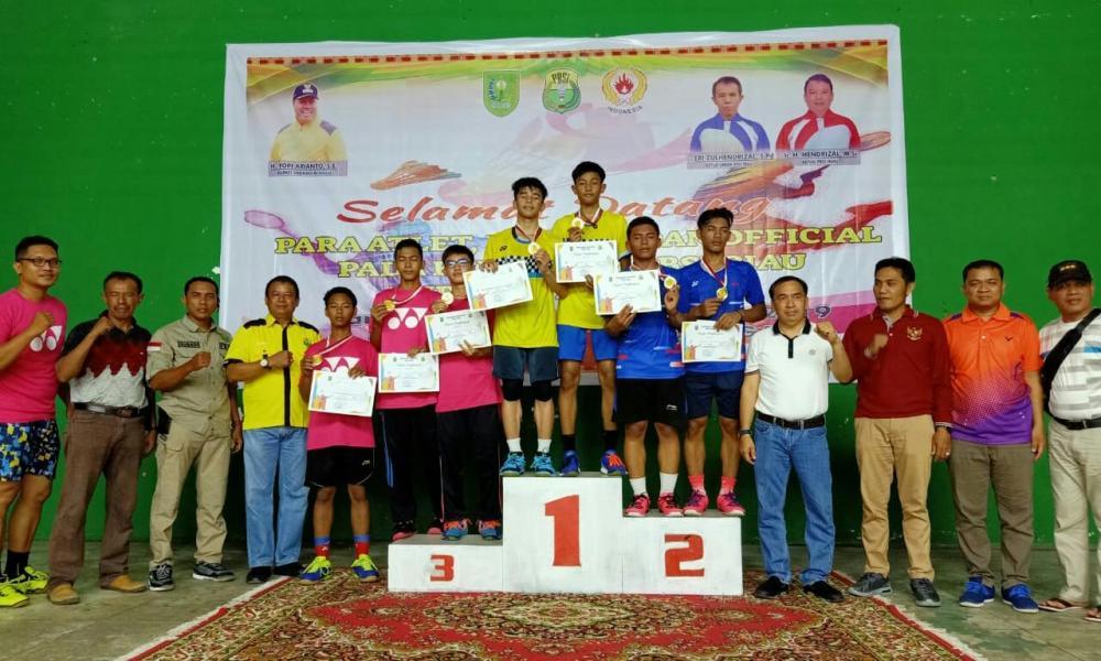 Dua Atlet PBSI Inhil Mhd Taufiq dan M Ihsan Albanjari Ikut Kejurnas Bulutangkis Nasional,