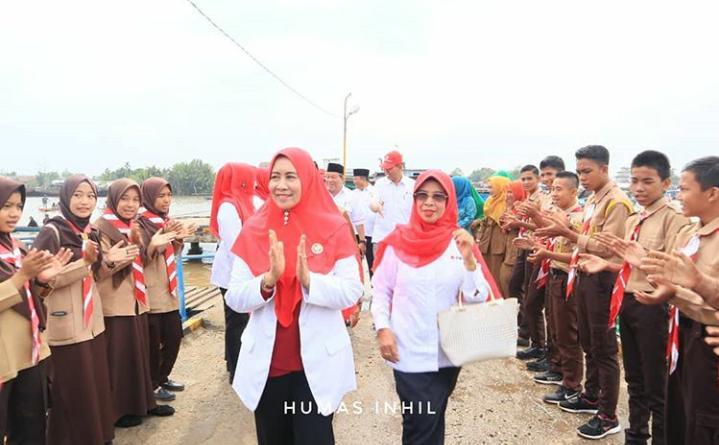 Hj Zulaikhah Wardan Ketua PMI Kab Inhil: Tugas PMI Sebagai Organisasi Sosial Kemanusiaan.
