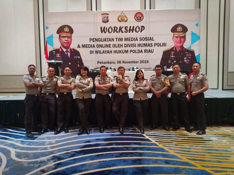 Tim Media Sosial Dan Media Online Polres Rohil Ikuti Workshop Penguatan Di Polda Riau