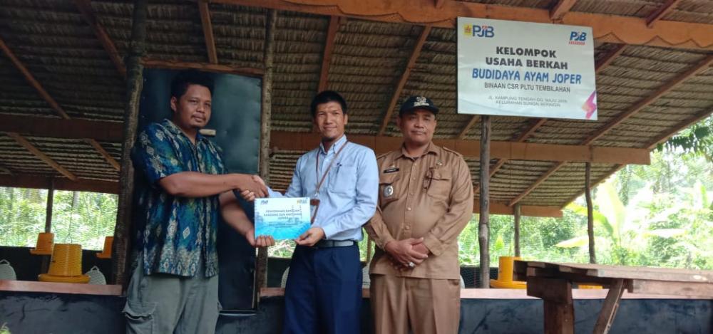 PT PJB UBJOM luar Jawa-2 PLTU Tembilahan Membentuk Kelompok Usaha Budidaya Ayam Joper (Jowo Super)