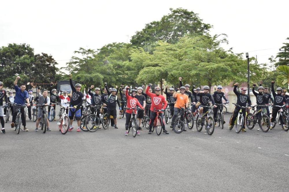 Kapolres Banjar Perkenalkan Jalur Goes yang Menarik di kota Banjar