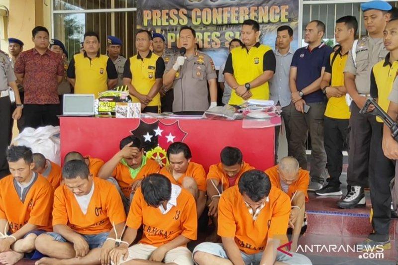 Polres Siak Selama Bulan Oktober Mengamankan 24 Orang Tindak Pidana Narkotika dan Obat Terlarang