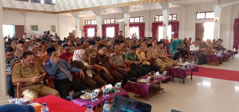 Dinas Pemberdayaan Masyarakat dan Desa Evaluasi Program Desa Maju Indragiri Hilir Jaya (DMIJ) Plus Terintegrasi