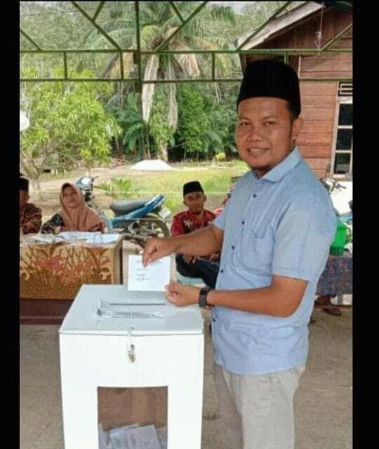Pilkades Serentak Gelombang III 2019 Kabupaten Bengkalis  Jamil S.Pd Kades Terpilih di Desa Sungai Cingam