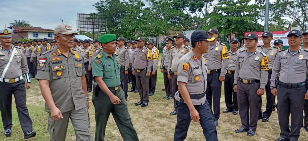 Polres Kampar Adakan Apel Gelar Pasukan Jelang MTQ ke-38 Prov. Riau dan Pilkades Serentak 2019