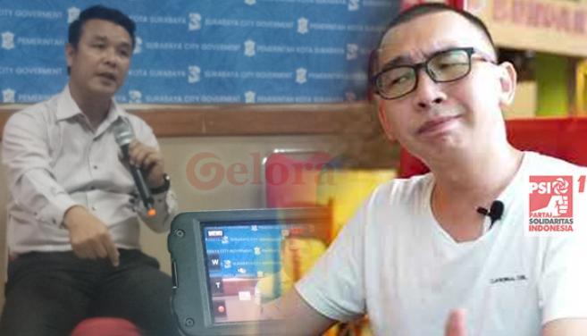 Politisi Partai Soladaritas Indonesia(PSI) DPRD Kota Surabaya Buang Draf  RAPBD Kota Surabaya 2020