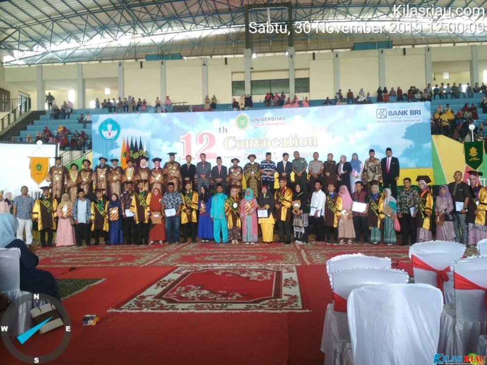 Convocation ke-12 UNISI (Universitas Islam Indragiri) 246 Menyandang Gelar S 1