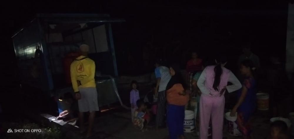 Warga Dapat Bantuan Air Bersih Dari Relawan Tagana Kabupaten Ciamis.