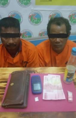 Satresnarkoba Polres Pelalawan Tangkap Dua Pengedar Sabu