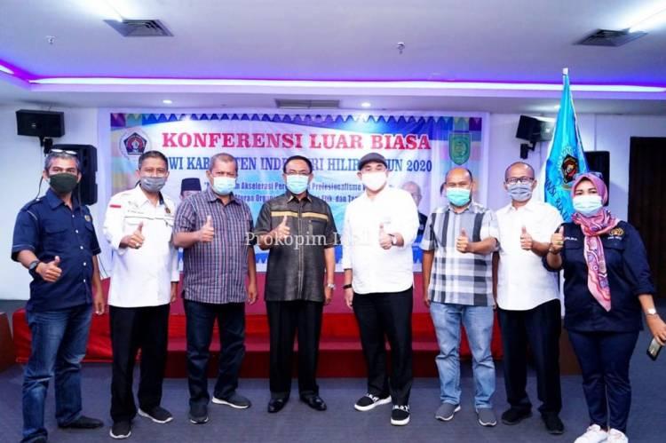 PWI Inhil Gelar Konferensi Luar Biasa, Bupati Wardan Minta Pers Berkontribusi Untuk Daerah
