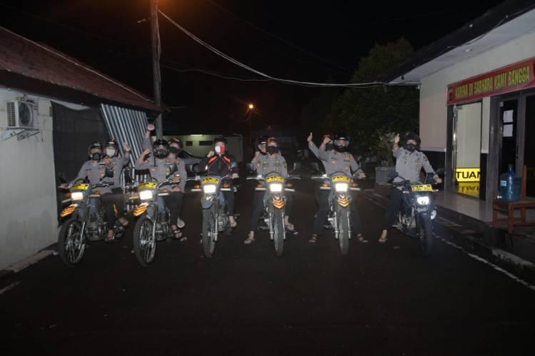 Mejelang Subuh, Anggota Dalmas Polres Banjar Mendatangi Masjid Al - Amanah Randegan, Ini Yang Dilakukan