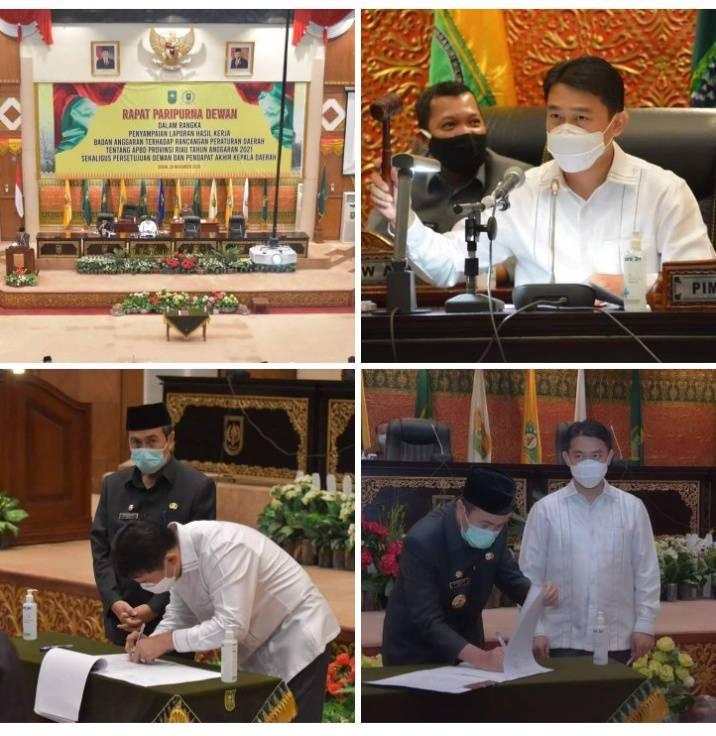 Prioritas Tetap Infrastruktur, Pendidikan, dan Kesehatan, Wakil Ketua DPRD Riau Sahkan APBD Riau 2021 Rp9,32 Triliun