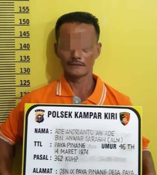 Polsek Kampar Kiri Dibantu Warga Berhasil Tangkap Pelaku yang Bawa Kabur Truk saat Ditinggal Salat Jumat