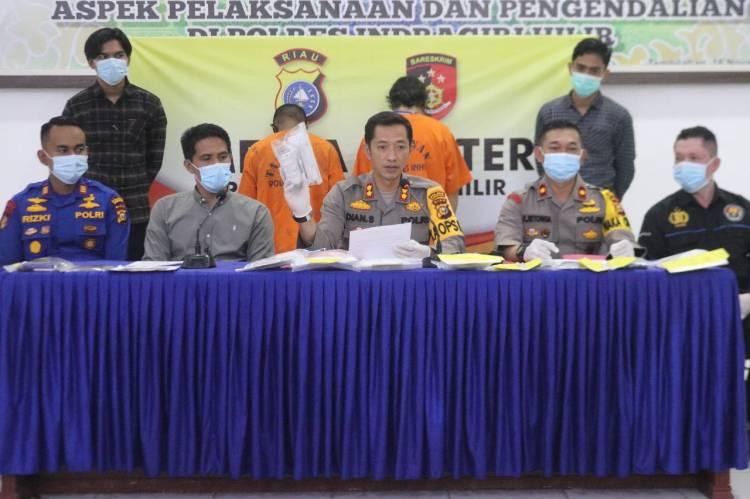 Pengungkapan Kasus Narkotika Jenis Sabu oleh Polsek Keritang