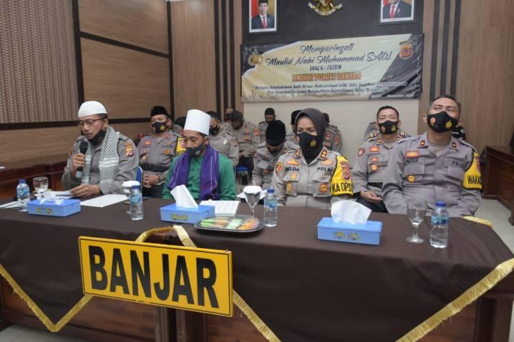 Polres Banjar Peringati Maulid Nabi Muhammad SAW Melalui Virtual Zoom Meeting