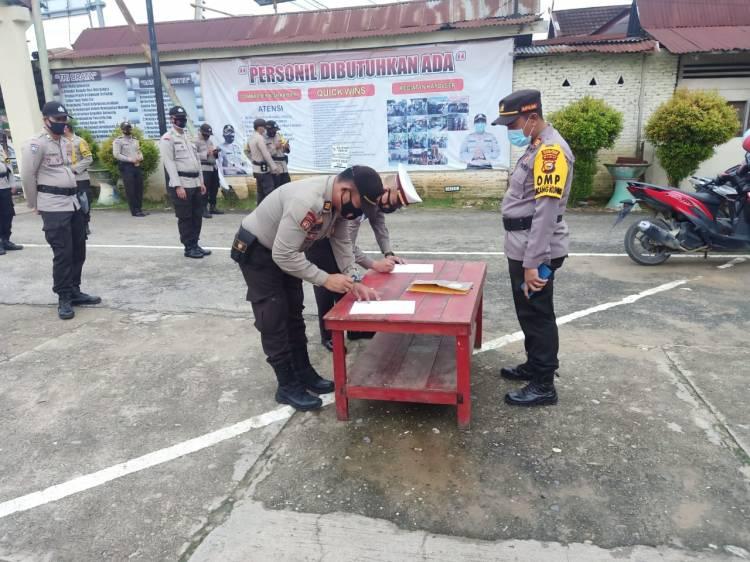 Polsek Bagan Sinembah Teken Pakta Integritas Netralitas Anggota Polri di Pilkada Rohil