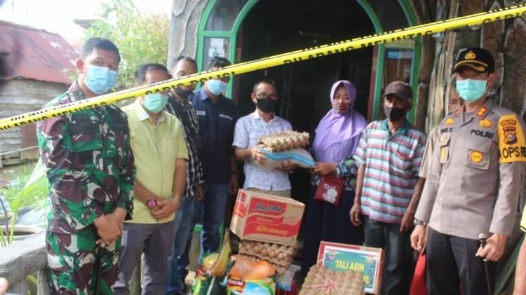 Korban Kebakaran Diberikan Bantuan oleh Dandim 0314/Inhil, Kapolres Inhil dan Ketua DPRD Inhil