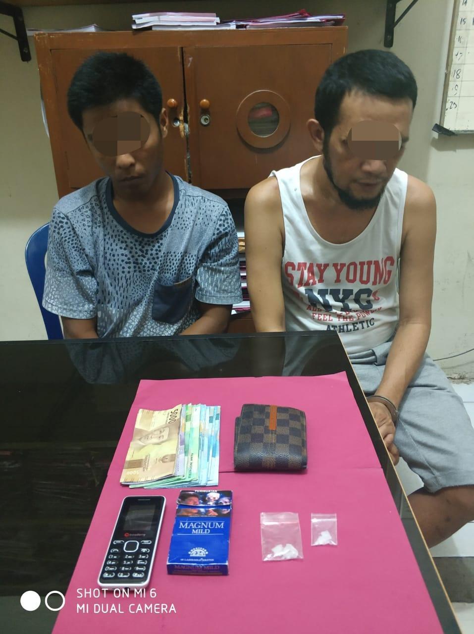 Polres Kampar Tangkap 2 pelaku Narkoba di Wisma Pantian Ragi