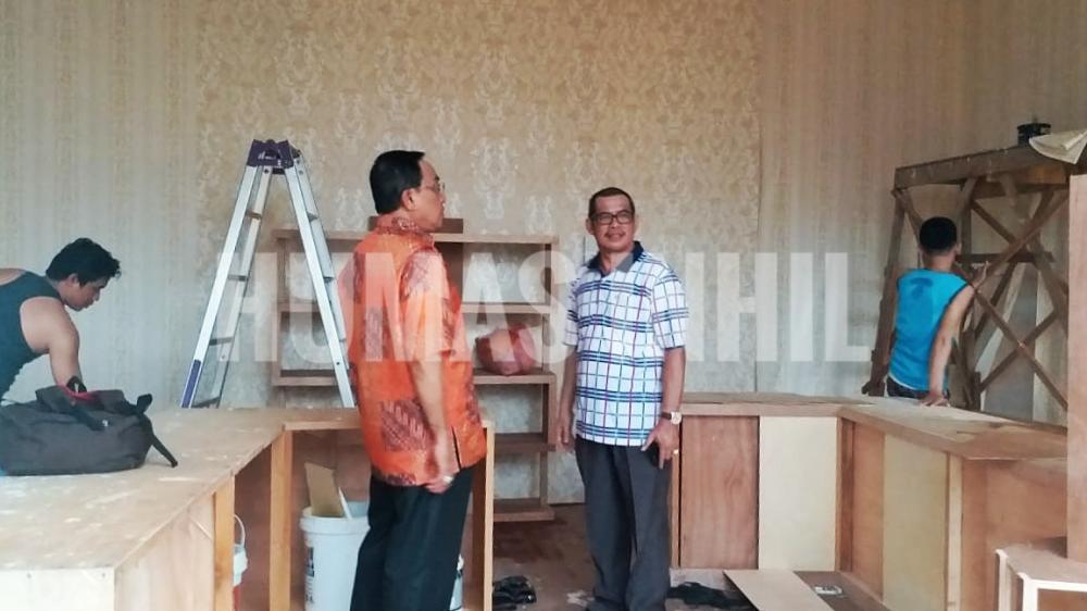 MTQ Tingkat Provinsi Riau, Bupati HM Wardan Tinjauan Pembuatan Stan Bazar Inhil