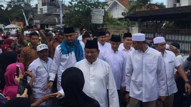Prabowo Subianto dan AHY Hadiri Acara Maulid Nabi Muhammad SAW dan Haul Habib Kwitang
