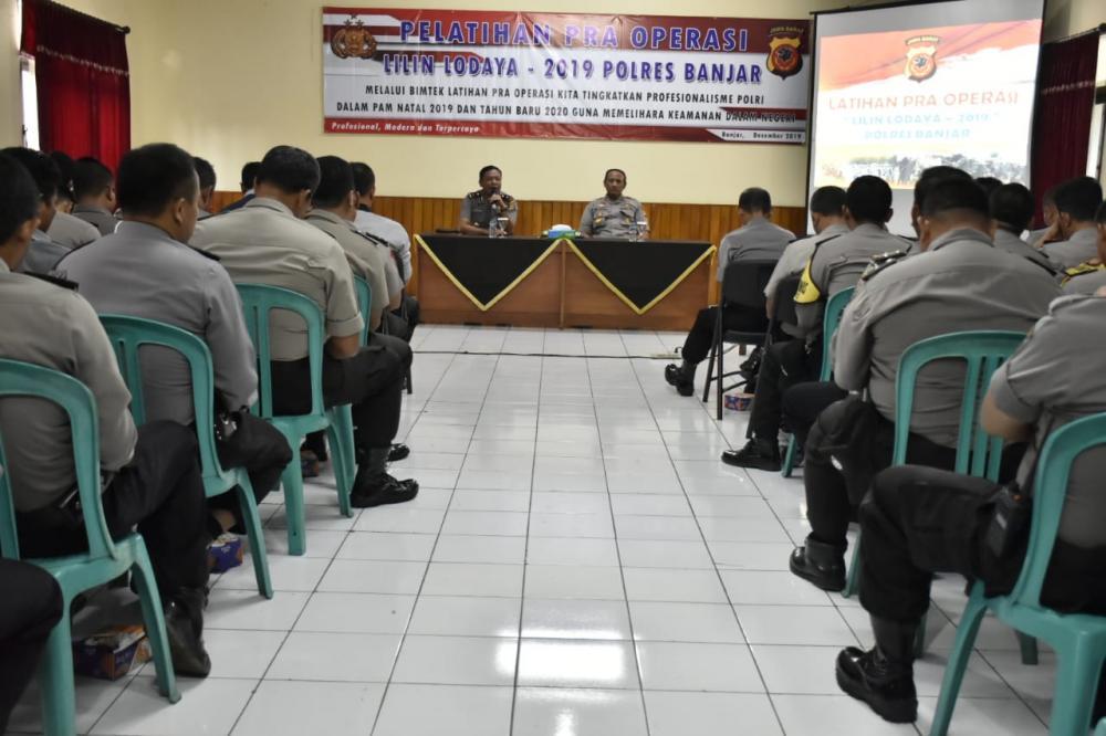 Polres Banjar Gelar Latihan Pra Operasi Lilin 2019