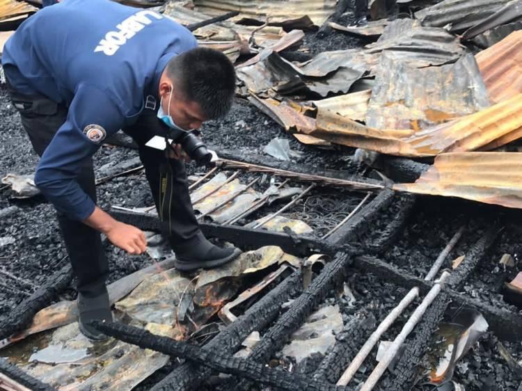 Bid Labfor Polda Riau Selidiki Secara Intensif Penyebab Musibah Kebakaran di Wisma Abu