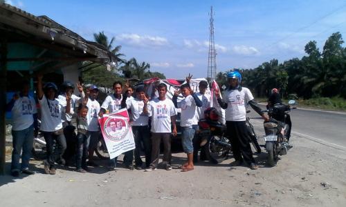 Relawan Pemenangan Jokowi-JK Bukit Kerikil Menuju Duri