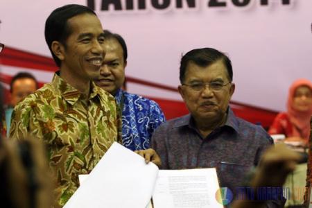Joko Widodo dan Jusuf Kalla Terpilih Jadi Presiden dan Wakil Presiden