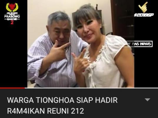 Yakin Indonesia akan lebih Baik,Warga Tionghoa ini Ajak keluarga Reuni 212