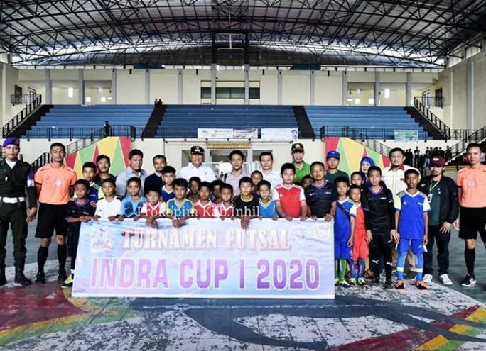 Wakil Bupati Inhil H Syamsudin Uti Buka Turnamen Futsal Indra Cup 2020